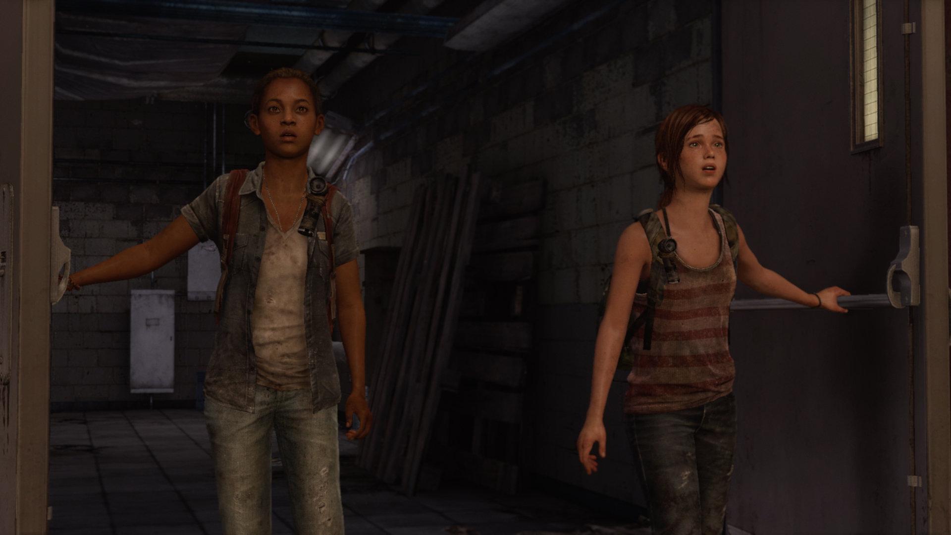 Riley og Ellie på vei inn på kjøpesenteret i Last of Us: Left Behind. | Foto: Naughty Dog / Sony Interactive Entertainment
