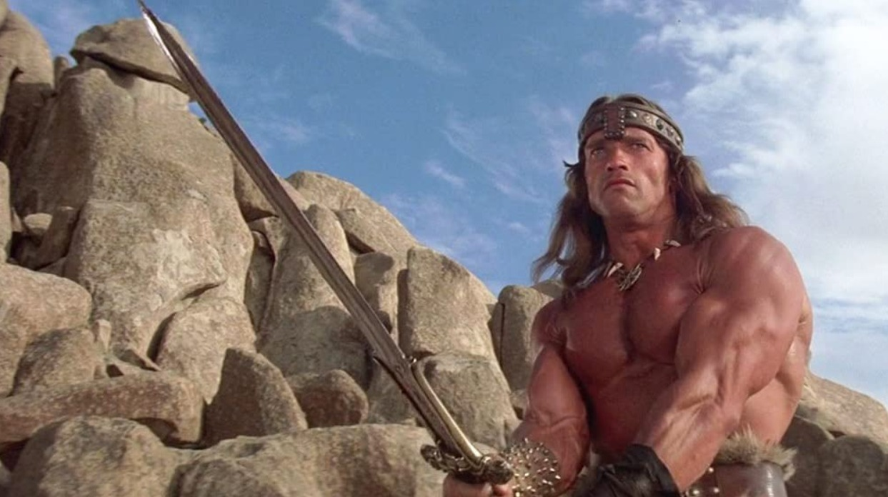 Arnold Schwarzenegger i rollen som Conan i den originale Conan the Barbarian fra 1982. | Foto: Universal Pictures, 20th Century Fox