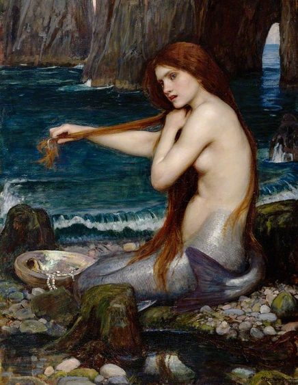 Her er et svært vakkert maleri laget av den engelske kunstneren John William Waterhouse. Han er kjent for sine mytologiske og romantiske motiver. Dette bildet henger i London i The Royal Acadamy of Arts og ble malt ca 1900. Foto: Royal Academy of Arts, Wikimedia commons