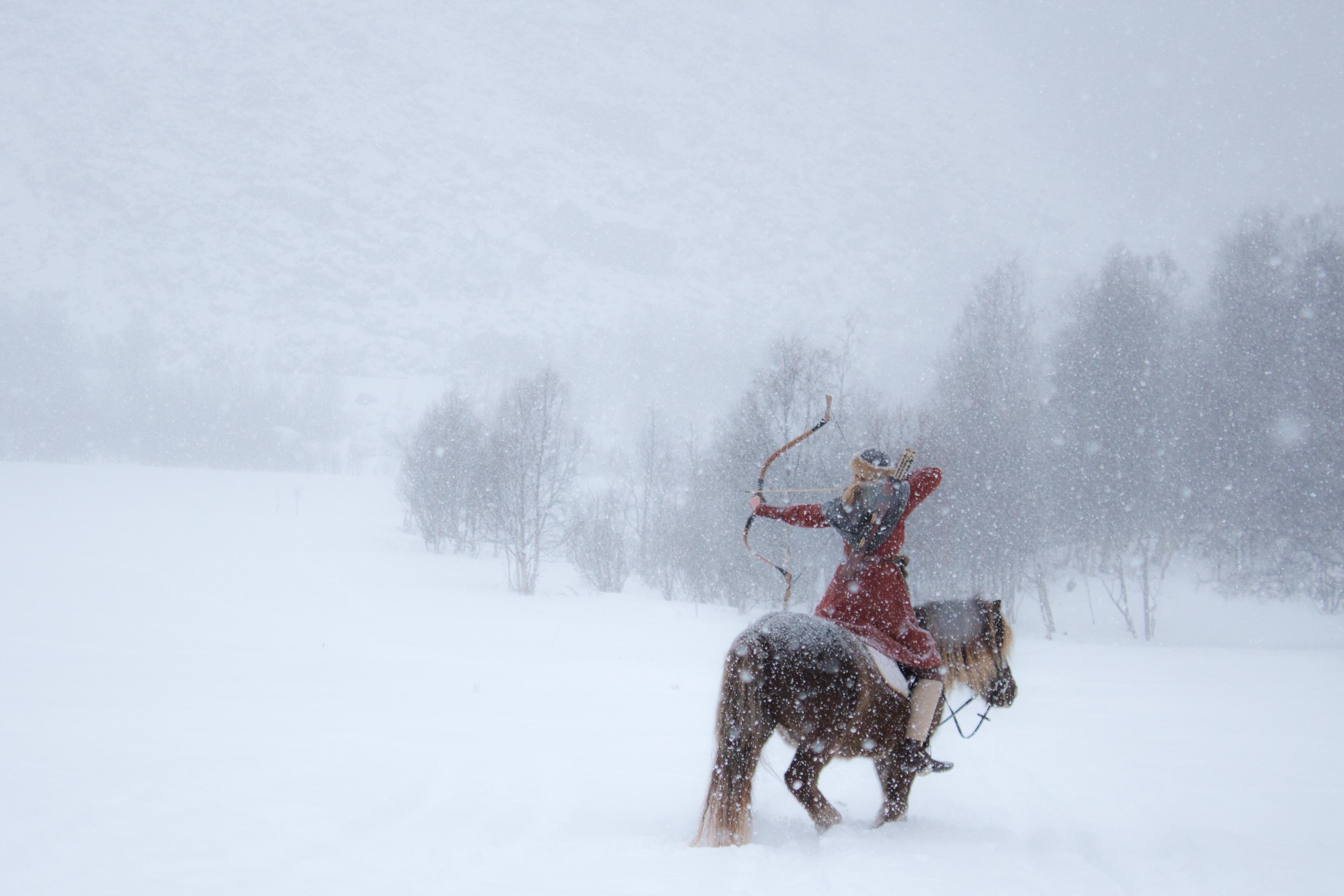LYNGHESTEN SILVER: – Jeg er ingen rytter, men har alltid vært fascinert av hester. Lyngshesten er en av de tre norske hesterasene, og siden min mor er fra Lyngen, Troms, er det bare naturlig at jeg velger en av disse hestene når jeg først skal opp i sadelen. Det sies også at Lyngshesten stammer fra Steppe-hestene brukt av Genghis Khan og mongolene, og at det var de som brakte rasen nordover for tusen år siden. Foto: Merethe Samuelsen
